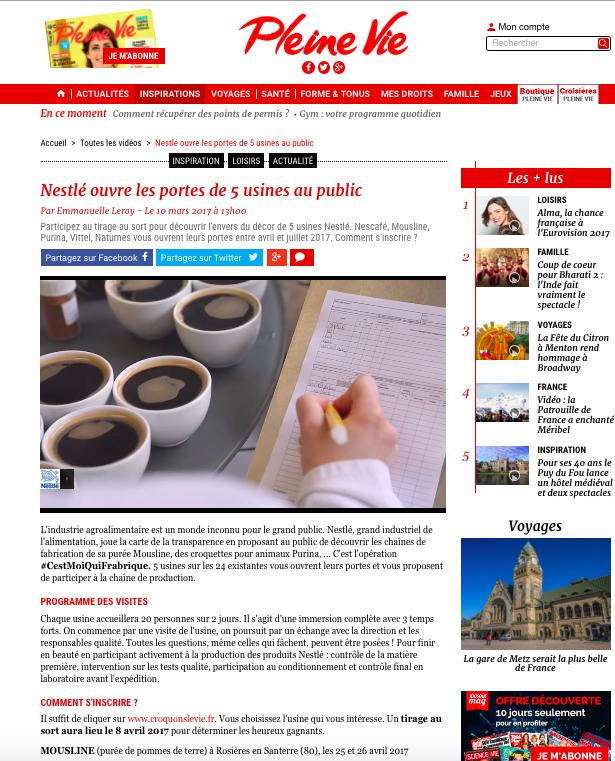#CestMoiQuiFabrique de Nestlé