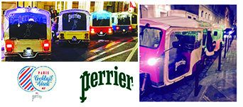 Les TukTuk Perrier pendant la Paris Cocktail