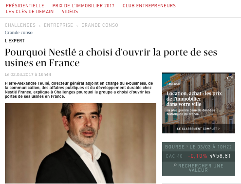 L'opération Nestlé #CestMoiQuiFabrique